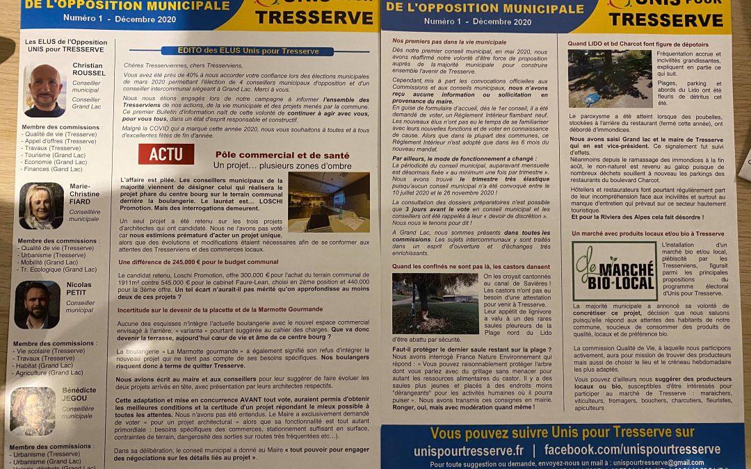 Création d'un «Bulletin d'information de l'opposition municipale»