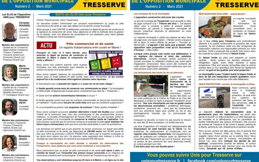 Mars 2021 – Bulletin d'information de l'opposition municipale